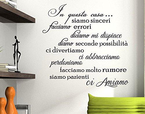 Stickerdesign Adesivo Murale Wall Stickers Frase In Questa Casa Adesivi Murali Decorazione interni Frasi Citazioni (Questi Misura)