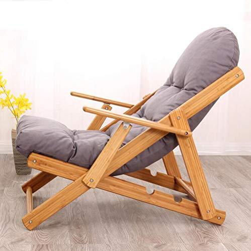 YAMEIJIA Klappender, fauler Einzelstuhl Schlafsättel Sofa Sesselstuhl Sessel Erholungs-Sessel der Balkon-Tuch Art Deck,Gray