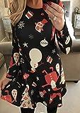 Vin beauty Damen Weihnachtsbaum Geschenkkartendruck Kleid
