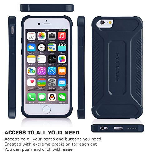 Coque iPhone SE, Coque iPhone 5S, Coque iPhone 5, Fyy® [Léger] [Épais Convenable] Coque de protection pour Apple iPhone SE/5S/5 Bleu Foncé C-Bleu Foncé