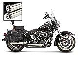 Auspuff Schalldämpfer Falcon für Harley Davidson Softail Breakout (FXSB) 13-14 silber