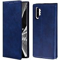 OJBKase Funda Galaxy Note 10 Plus, Premium Piel sintética Libro Billetera Carcasa Plustectora Cartera [Soporte Plegable][Ranuras para Tarjetas] para Samsung Galaxy Note 10 Plus (Azul)