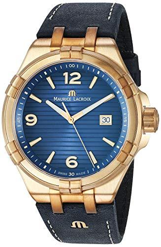 Reloj de Cuarzo Maurice Lacroix Aikon Gents, Azul, Bronce, Edición Limitada