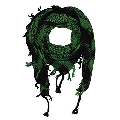Shemagh 100x100cm 100% Baumwolle schwarz/grün
