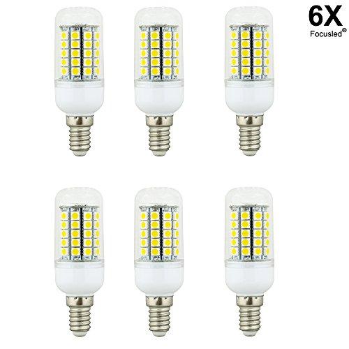 Focusled® 6X E14 LED 5W Spotlight Einbaustrahler Leuchte 59X5050 SMD Warmweiss AC 200-240V 420-450 Lumen 360Abstrahlwinkel Ø35,4X99mm