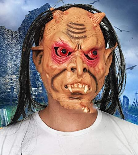 YWJ Halloween Kostüm menschliches Gesicht Overhead handgemachte Horror Vampir Masken, Einheitsgrösse
