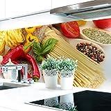 Küchenrückwand Pasta Love Premium Hart-PVC 0,4 mm selbstklebend 60x80cm