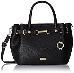 Cathy London Women's Handbag, Colour- Black, Material- Synthetic Leather