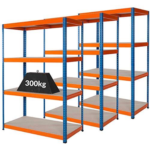 Mega Deal   Set aus 3x Schwerlastregal (Tiefe 60 cm)   Fachlast 300 kg pro Fachboden   Metallregal...