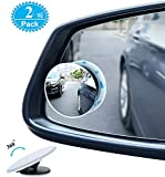 Picture Of Blind Spot Mirrors For Cars - BeskooHome Waterproof 360°Rotatable Convex Rear View Mirror For Universal Cars -2 Pack