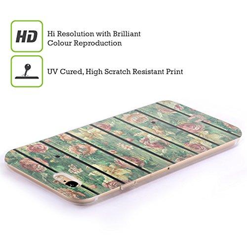 Head Case Designs Bretter Blumige Ruine Soft Gel Hülle für Apple iPhone 5 / 5s / SE Bretter