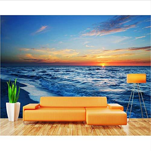Zybnb 3d photo wallpaper 3d blue mare onde spiaggia soggiorno bagno hotel tv divano sfondo muro camera da letto ristorante carta da parati murale