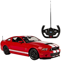 Rastar - Ford Shelby GT500, coche teledirigido, escala 1:14, color rojo (ColorBaby 85022)