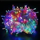 YOEEKU Luminosa Catena Luminosa 10M 100 LED Natalizie per Interno & Esterno Ideale per Decorazione Natale/Matrimoni/Feste (Multicolore)