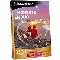 Wonderbox - Coffret cadeau pour couple - MOMENTS EN DUO - idée cadeau- 3300 activités à partager