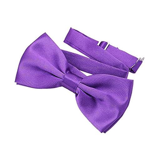 Clown Rose Costumes - DonDon Nœud papillon avec crochet lilas- déjà