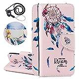 Coopay Flip Housse de Protection pour iPhone 6 Plus/ 6S Plus Attrape Reve Fleur...