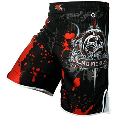 Pantalones cortos de boxeo Pro Gel UFC MMA Grappling short Kick Boxing Muay Thai jaula pantalones, XL