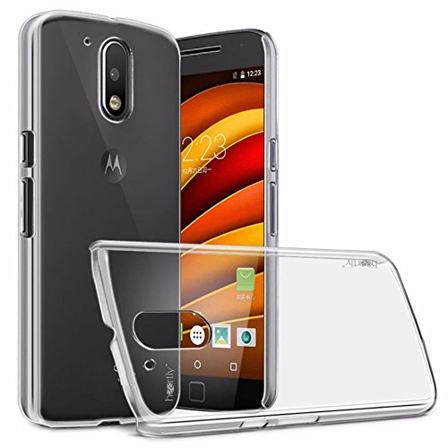 Heartly Crystal Clear Hot Transparent Flip Thin Hard Bumper Back Case Cover For Motorola Moto G Plus 4th Gen / Moto G4 Plus