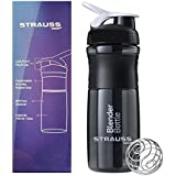 Strauss Blender Shaker Bottle 760ml, (Black)