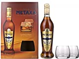 Metaxa 7 Stars Gift Set with 2 Branded Tumblers