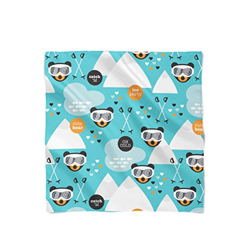 Ski Fun Bears Satin Style Scarf - Large Square (36x36) Schal
