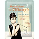 Nostalgic Art 26122 Breakfast at Tiffanys Blue Metal Sign 15 x 20 CM