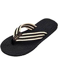 43f3db3e174 Yiiquanan Unisex - Erwachsene Zehentrenner Sommer Flip Flops Badelatschen  Casual Rutschfest Sandalen Strand Slipper Weich Solen