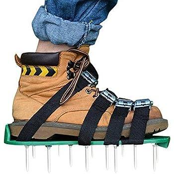TAKELIFE RasenlüFter Schuhe 4 Riemen RasenbelüFter 30cm Lange Sohlen 5,5cm