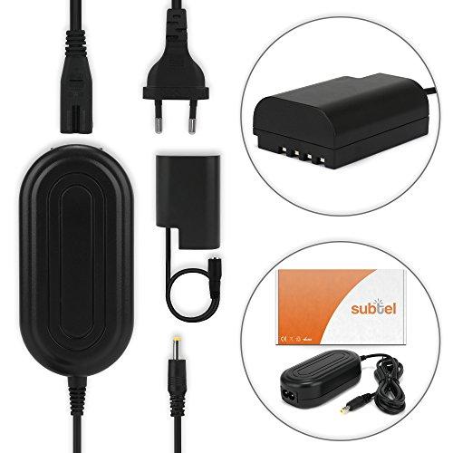 subtel® Fuente de alimentación Panasonic Lumix DC-GH5, Lumix DMC-GH3, -GH3A, -GH3H, Lumix DMC-GH4, -GH4A, -GH4H Lumix DMC-GH4R, -GH4U - ca. 3m, DMW-AC8 + DMW-DCC12, 8.4V cable de corriente