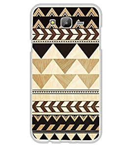 Fuson Designer Back Case Cover for Samsung Galaxy J7 J700F (2015) :: Samsung Galaxy J7 Duos (Old Model) :: Samsung Galaxy J7 J700M J700H (Black triangle yellow Triangles Alternate Temple Design Alternate Triangles Small Triangles)
