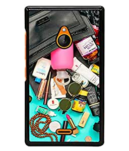 Fuson Designer Back Case Cover for Nokia XL (Medicines Tablets Creams Beads Coins Camera )
