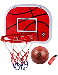 Kids Indoor Basketball Hoop Play Set,VicPow Mini Hanging Basketball Board with Ball and Pump for Children