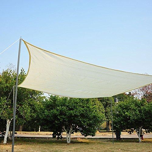 prezzo Tenda – Tendone parasole rettangolare (colore: crema, dimensione: 3x4m)