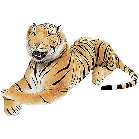 BRUBAKER gigante peluche tigre con dientes de color marrón de 130 cm