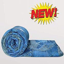 Divine Casa Luxor Microfibre Single Comforter - Denim Blue