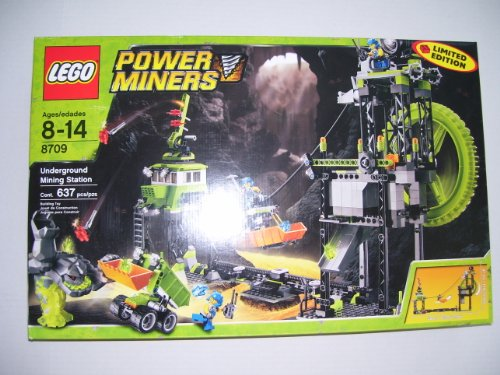 LEGO Power Miners Set # 8709 Underground Mining Station (Limited Edition) (Lego Power Miner Sets)