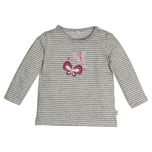 SALT AND PEPPER Baby-Mädchen Langarmshirt NB Longsleeve Sunshine Stripe, Grau (Grey-Melange 212), 68
