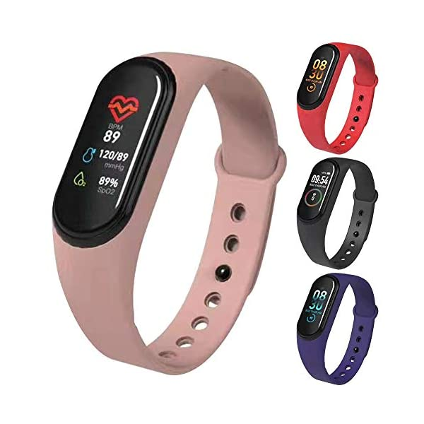 Matedepreso M4 Fitness Tracker Waterproof Activity Tracker Colour Screen Fitness Watch with Heart Rate Monitor for Kids Women and Men 7