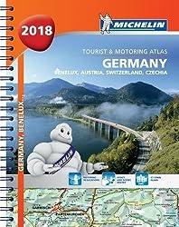 Germany Benelux Austria Switzerland 2018 -Tourist & Motoring Atlas: Tourist & Motoring Atlas A4 spiral (Michelin Road Atlases)