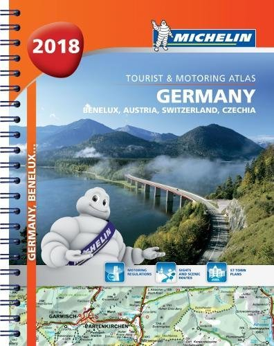 Meilleur achat Germany, Benelux, Austria, Switzerland, Czech Republic 2018 - Tourist and Motoring Atlas (A4-Spiral) 2018