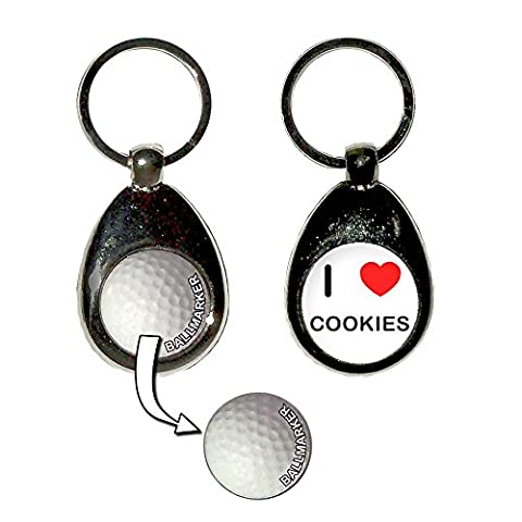 I Love Heart Cookies - Une balle de golf porte-clés marqueur