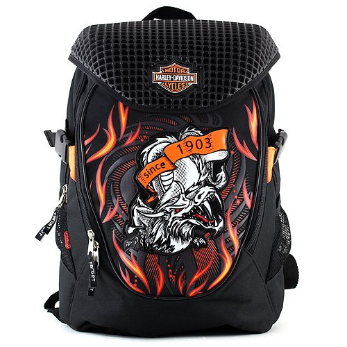 harley-davidson-zaino-con-comparto-per-pc-uomo-color-arancione-black-orange-talla-46-cm