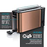 Arendo - Automatik Toaster Langschlitz | Defrost Funktion | Wärmeisolierendes Doppelwandgehäuse | integrierter Brötchenaufsatz | herausziehbare Krümelschublade | GS-zertifiziert - 2