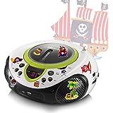 CD lecteur MP3 USB port radio récepteur portable AUX LED dans l'ensemble compris les autocollants pirates
