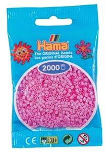 Desconocido Hama Perlen 501-48 - Cuentas Mini 2000 Pieza Pastel Rosa Importado de Alemania