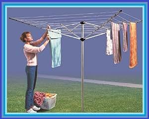 Wäschespinne, 4 Arme, 50 M, Wäscheleine, Kleidung, Alu Wäscheständer, Wäschetrockner Wäsche