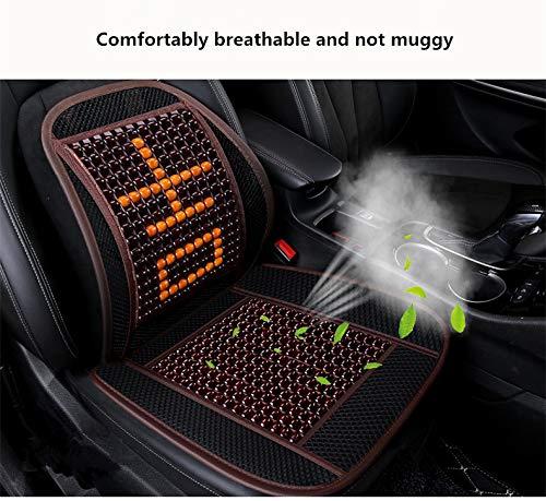 Xljh 2019 Neue Auto sitzlehne holzkugelsitz unterstützung Neue innenprodukte Keine rücksitz einzigen kalten Sommer Massage pad - Kalten Massage