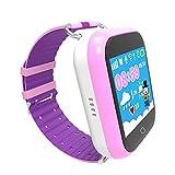 Enfants GPS Montre Intelligente, Anti-Perte Enfants Montre Téléphone Intelligent pour Enfants Filles Garçons Cadeaux avec SIM appels Sos Smartwatch Bracelet pour iPhone et Android