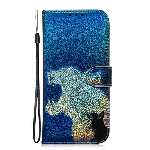 Docrax Handyhülle Lederhülle für Huawei Honor 20Pro, Flip Case Schutzhülle Hülle mit Standfunktion Kartenfach Magnet Brieftasche für Huawei Honor 20 Pro - DOTXI150430 D7